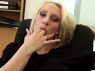 Office Masturbation By Needy Kelly Marina