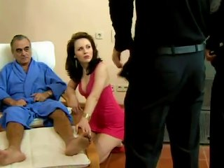Sabina Black Betrays Her Husband And Has A Fuck With Two Guys