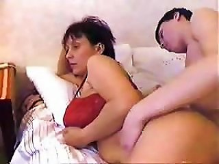 Russian Step-mom Wakes Up Her Step-son With A Hardcore Fucking