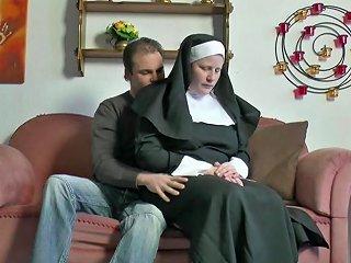 German Young Boy Seduce Granny Nun To Fuck Him Hd Porn 80